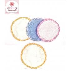Set 4 pad in spugna di puro cotone per la pulizia del viso